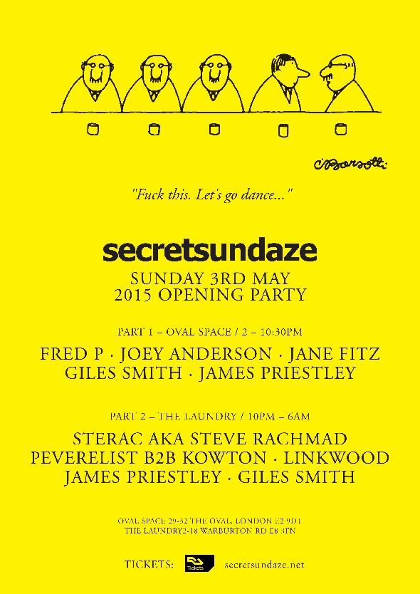 Secretsundaze Opening Party - Flyer