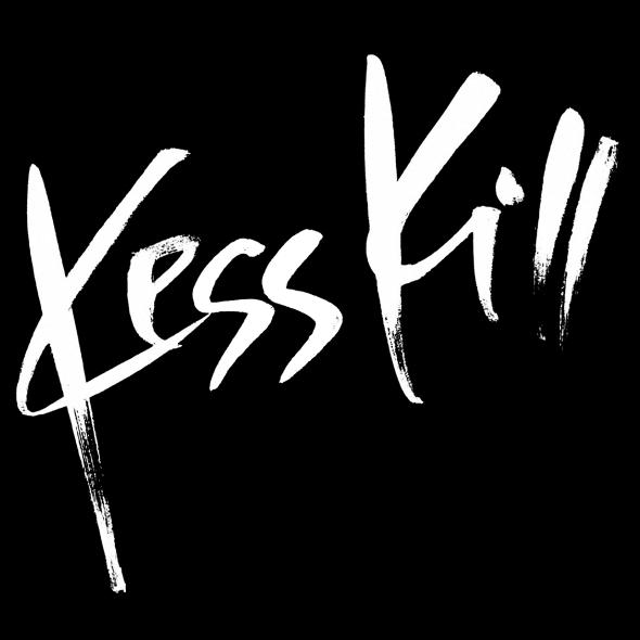 kess kill white logo on black bg