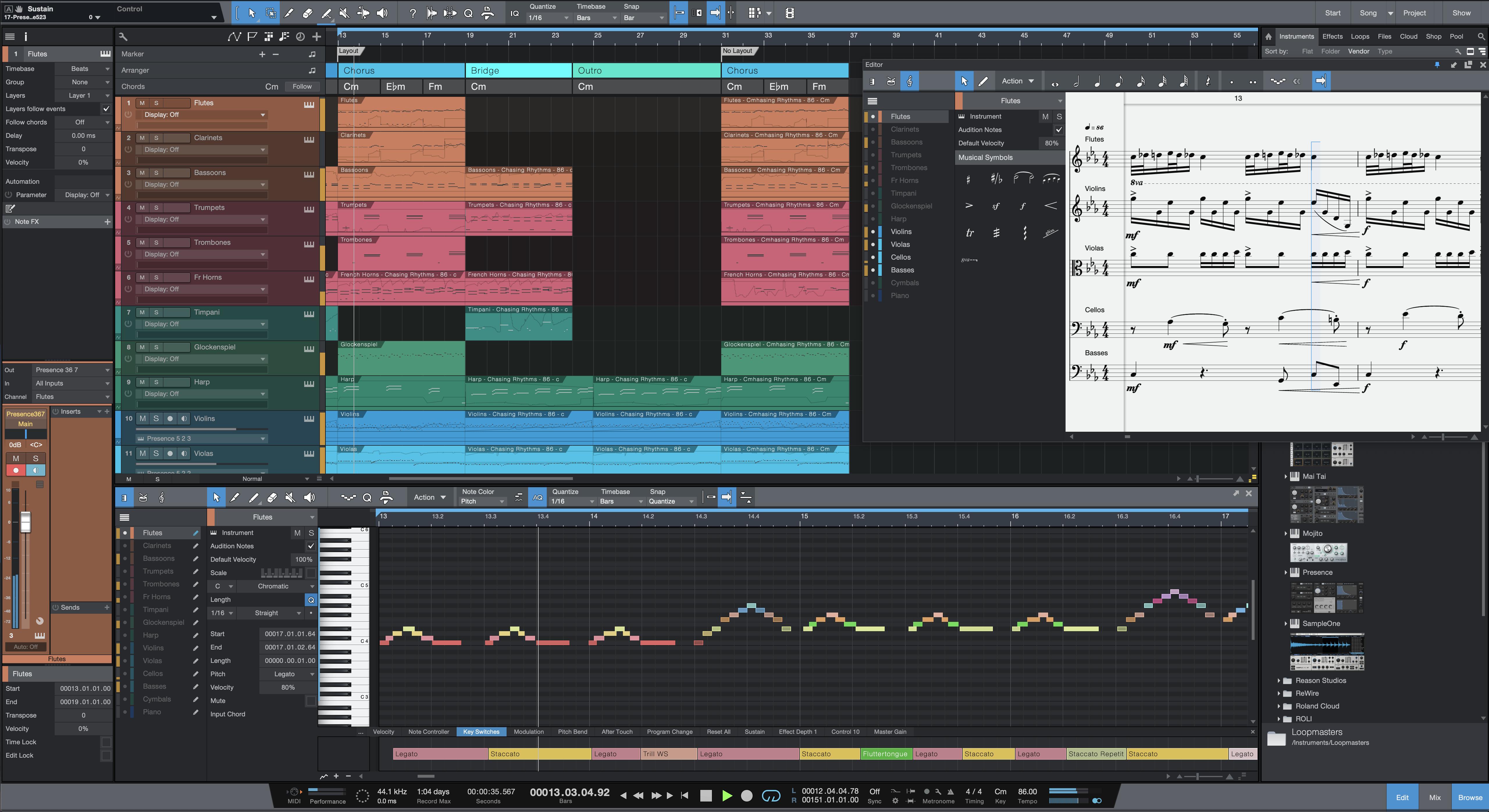 2-Studio One 5 Pro NEW Score View