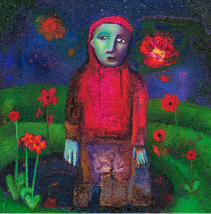 girl in red art