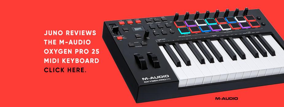 M-Audio Oxygen Pro 25 MIDI keyboard reviewed